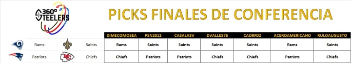 picks finales de conferencia (steelers 360)