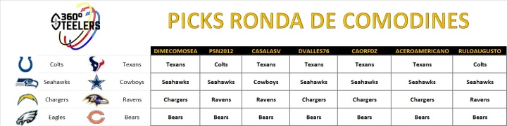 picks ronda de comodines (steelers 360)