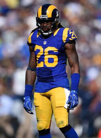 Los Angeles Rams linebacker Mark Barron (26) in action during the second half of an NFL football game against the Seattle Seahawks at the Los Angeles Memorial Coliseum, Sunday, Sept. 18, 2016, in Los Angeles. (AP Photo/Kelvin Kuo)